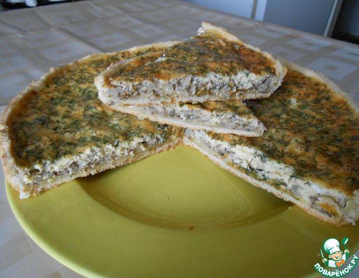 Рецепт: Заливной рыбный пирог