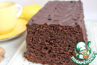 Рецепт: Шоколадный кекс на минералке