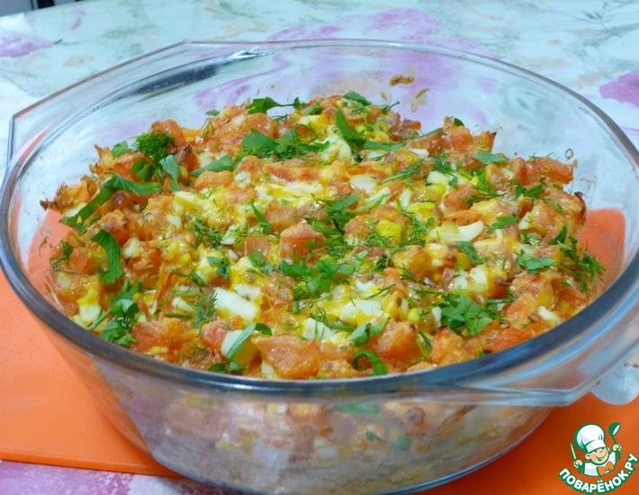 Рецепт: Цветная капуста с помидорами
