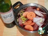 Телятина, томленная в красном вине ингредиенты