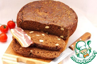 Рецепт: Хлеб ржаной зерновой с красным вином и тмином