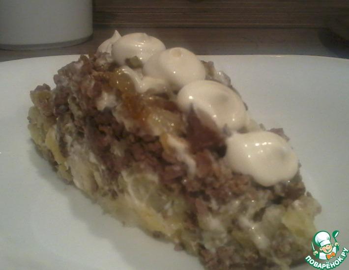 Рецепт: Салат Печенка в дубленке