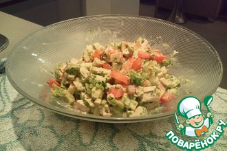 Рецепт: Салат из курицы с брокколи