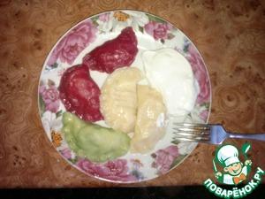 Цветное тесто для вареников и пельменей