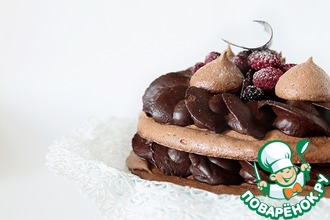 Рецепт: Шоколадный меренговый торт