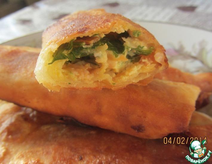 Рецепт: Мини-рулеты из лаваша