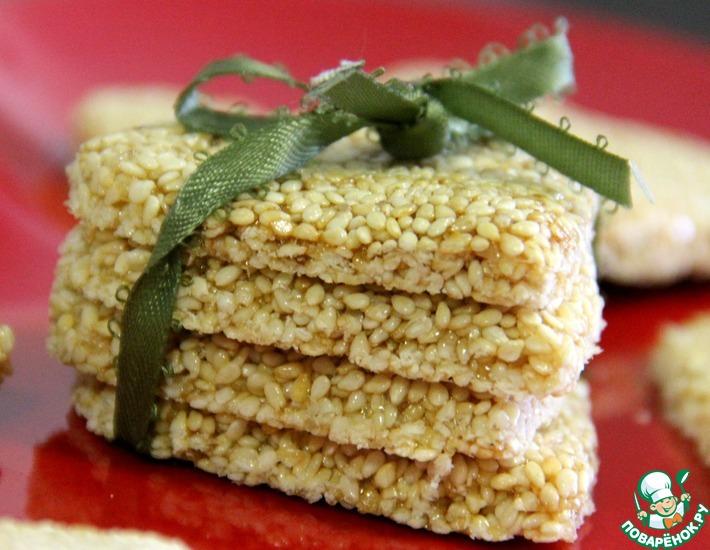 Рецепт: Aзиатские кунжутные конфеты