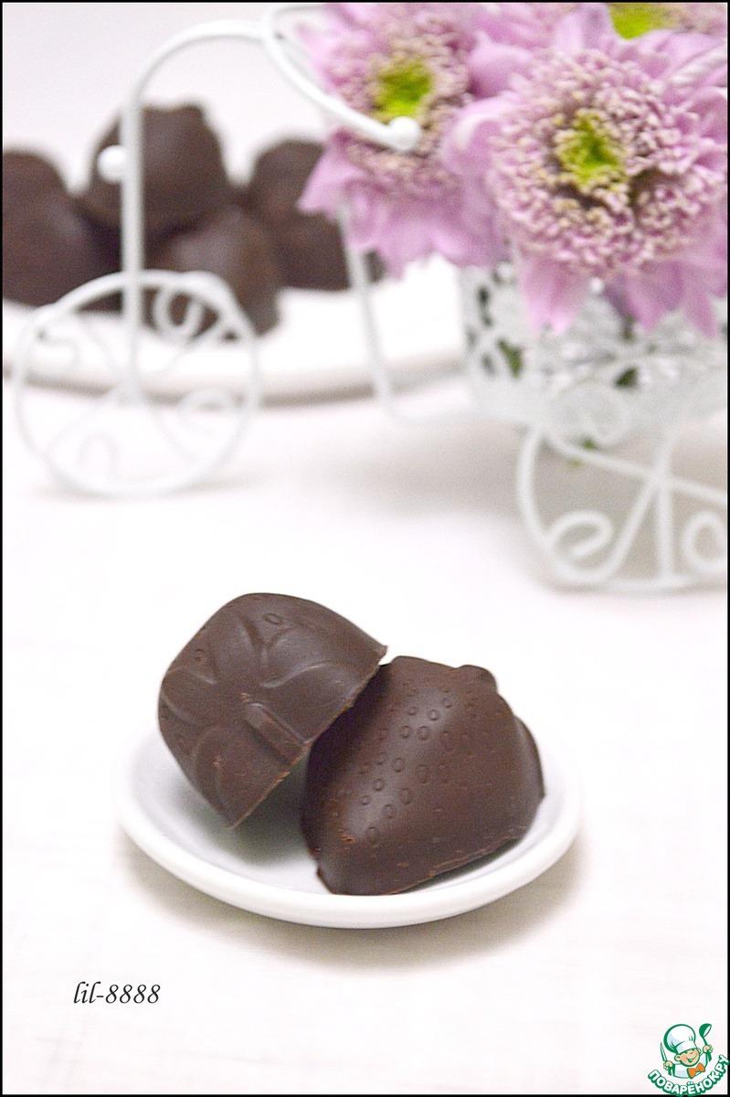 Шоколадные конфеты с жидкой начинкой