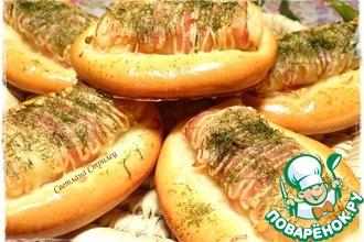 Рецепт: Булочки с картофелем и беконом