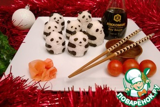 Рецепт: Суши Веселые панды
