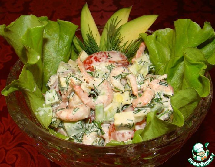 Рецепт: Авокадо с креветками