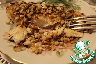Рецепт: Рыба под орехово-пряной посыпкой