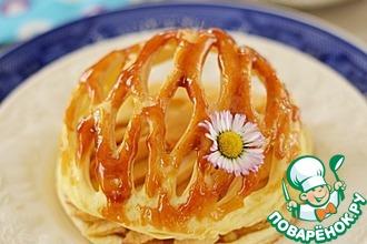 Рецепт: Яблочные тарталетки в ажурном куполе