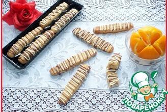 Рецепт: Апельсиново-ореховые палочки с шоколадом
