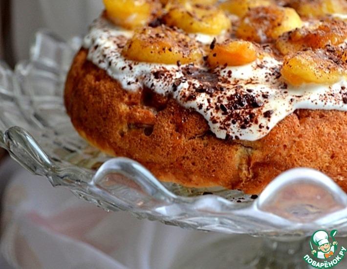 Рецепт: Шарлотка банановая с кленовым сиропом