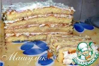 Рецепт: Творожный торт к завтраку