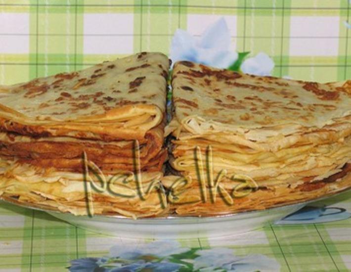 Рецепт: Сырные блины с луковым припeком