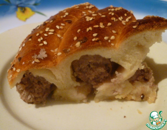 Рецепт: Праздничная колбаса в тесте