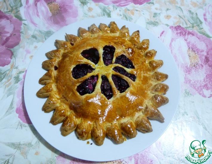 Рецепт: Пирог Солнышко со свежими ягодами