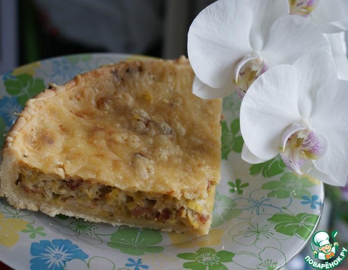 Рецепт: Пирог из лука-порея