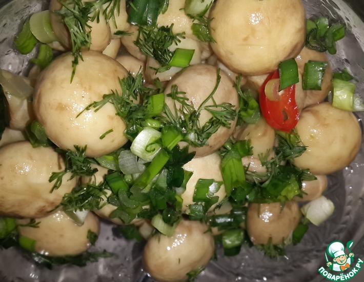 Рецепт: Быстрые маринованные грибочки