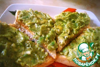 Рецепт: Острый паштет из авокадо
