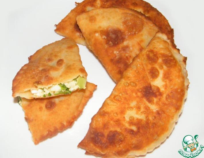 Рецепт: Пирожки с зелёным луком и яйцом