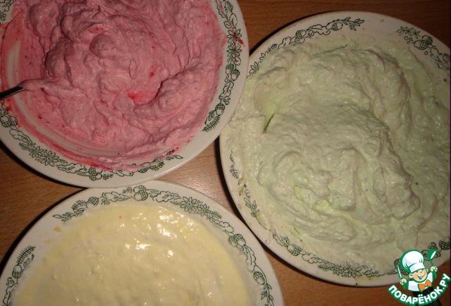 """Торт-мороженое """"Трехцветик"""""""