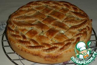Рецепт: Мясной пирог с сыром и яйцами