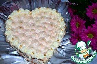 Рецепт: Торт с безе Признание в любви