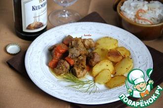 Рецепт: Гуляш из свинины с овощами и картофелем