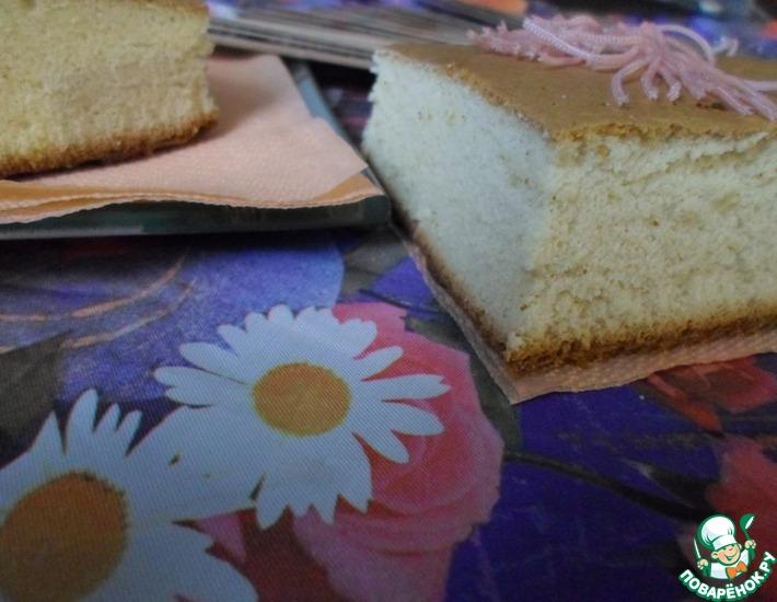 Рецепт: Японский бисквит Медовая кастелла
