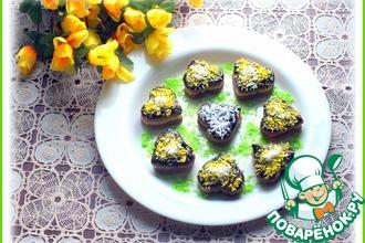 Рецепт: Шоколадное печенье с кокосовым кремом
