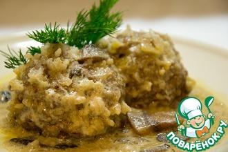 Рецепт: Тефтели в нежном сливочно-грибном соусе