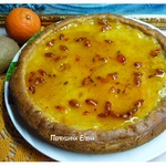 Мягкий пирог с облепихово-желейной заливкой