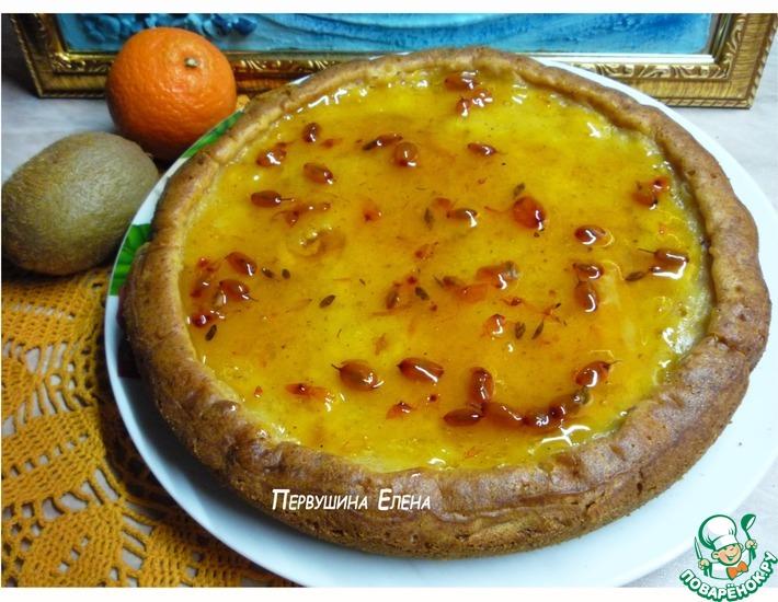 Рецепт: Мягкий пирог с облепихово-желейной заливкой