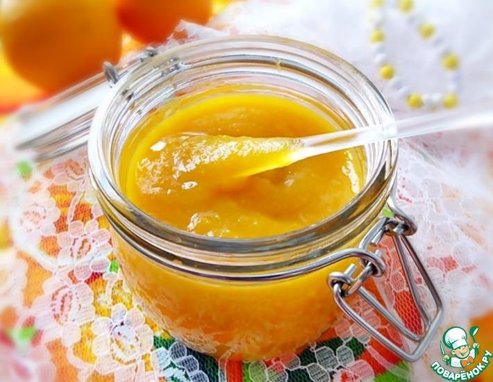 Рецепт: Тыквенно-апельсиновый десертный соус с имбирем и лимоном
