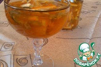 Рецепт: Апельсиново-лимонное варенье с тыквенными семечками