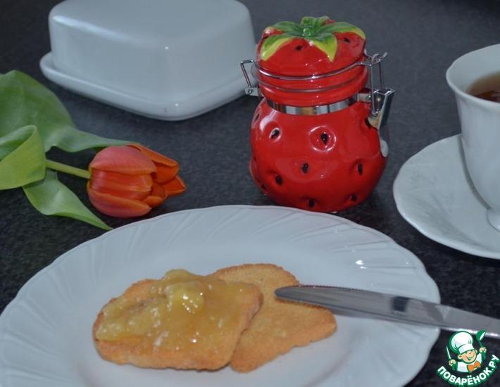 Рецепт: Ананасово-банановый мармелад Восход солнца