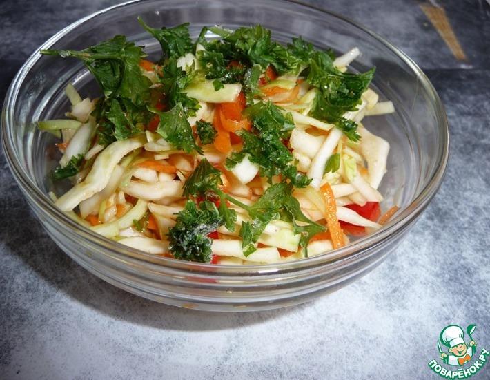 Рецепт: Салат Закусочный из свежей капусты