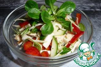 Рецепт: Салат из свежей капусты с курицей