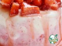 Клубничный чизкейк-мороженое ингредиенты