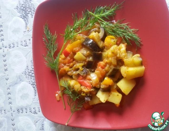 Рецепт: Рагу-баджи 7 овощей