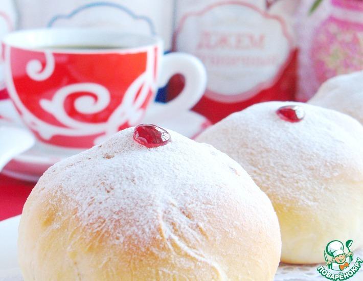 Рецепт: Пончики Суфганиет из духовки