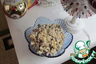 Рецепт: Салат из куриной печени