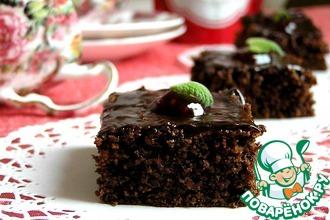 Рецепт: Брауни с малиновым джемом