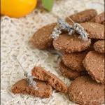 Шоколадное печенье с лимоном и лавандой
