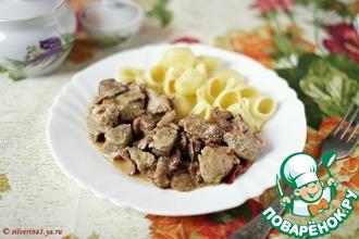 Рецепт: Тушеная свинина с грибами