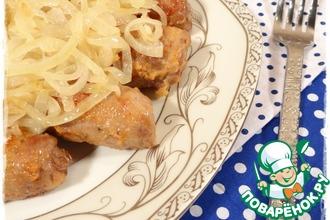 Рецепт: Рулетики из свинины с пряной начинкой из феты