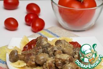 Рецепт: Телятина в соусе с грибами из мультиварки